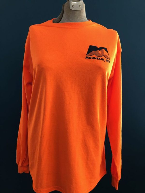 Orange Fielder's Long Sleeve Shirt